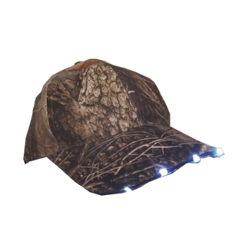 5 LED Headlamp Oaktree Camo Hunting & Fishing Lighted Hat