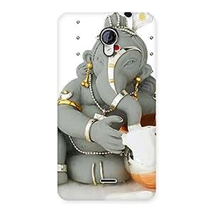 Delighted Ganesha Ji Multicolor Back Case Cover for Micromax Unite 2 A106