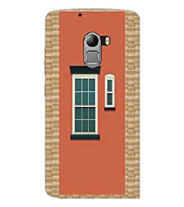 PrintDhaba Window Design D-3220 Back Case Cover for LENOVO VIBE X3 LITE (Multi-Coloured)