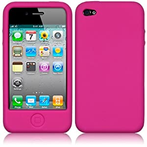 IPHONE 4 / IPHONE 4G SOFT SILICON SKIN CASE - HOT PINK
