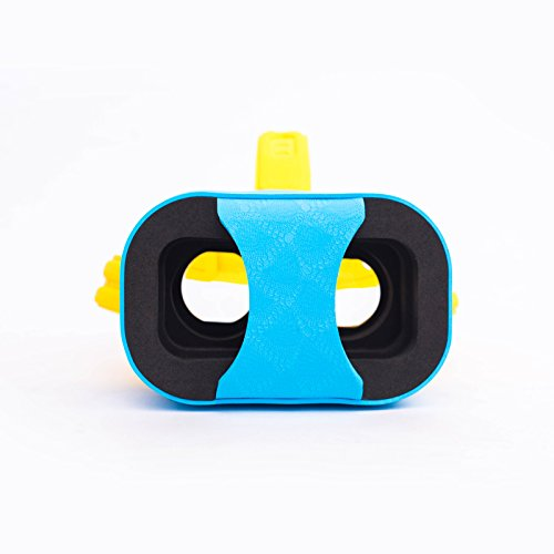 """OHPA V2 Childrens 3D Glasses Ultra light Headset DIY Virtual Reality 3D Video Games VR Glasses Cartoon Google Cardboard Kit for iPhone 6 6s Plus Samsung S6 S7 Edge and Other 4.7-5.5"""" Smartphones, Blue"""