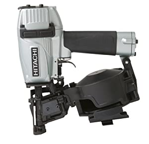 Hitachi NV45AE Coil Roofing Nailer with Side Load Magazine