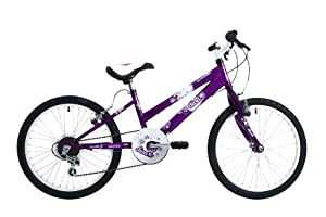 Emmelle Girl's Diva 6-speed Girls Junior Cycle - Purple, 20 Inch