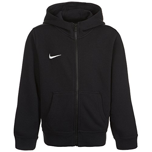 Felpa con cappuccio Nike Team Club FZ Hoody, Bambini, Sweatshirt Team Club Full Zip, nero