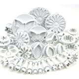 Sugarcraft Plunger Cutters 10 Sets (33 Pcs)