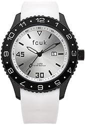 FCUK Men's FC1094BW Plastic White Rubber Watch