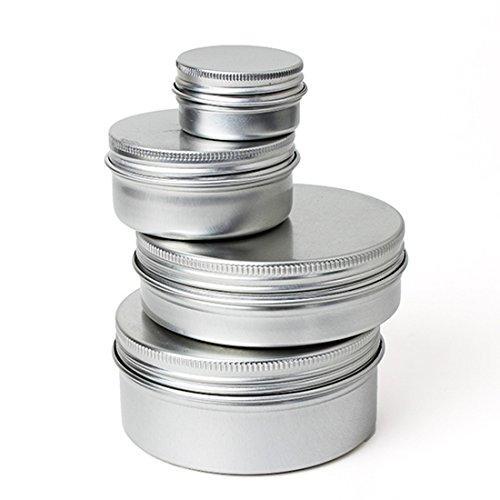 KINGSO 1PCS Pot boîtier boîte aluminium épice baume pommade maquillage fard lèvre vide 50ml
