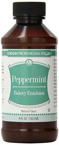 Lorann Oils Bakery Emulsions Natural and Artificial Flavor, 4-Ounce, Peppermint