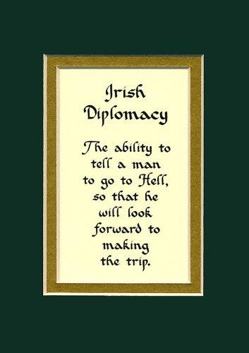Irish Diplomacy Home Decor Irish Saying Wall Sign Keepsake Gift Made In The Usa