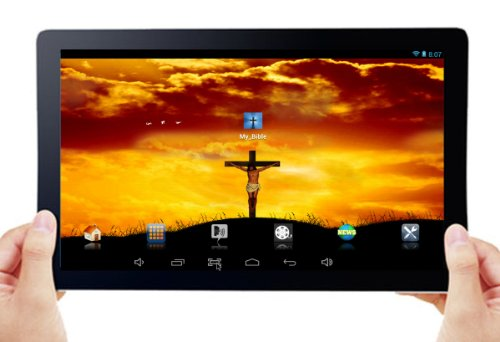 """Bible Tablet - Complete New King James Version (Nkjv) - ***Now Includes A Leather Carrying Case With A Multi-Position Stand. - *10"""" Dual Core, Dual Camera, Android 4.2.2 (Jelly Bean) 1Gb Tablet With 8Gb Of On-Board Memory And Custom Configuration For Easy front-354672"""