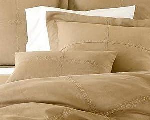 Amazon.com - Camel/Tan Microsuede Bedding Duvet Cover 4pc ...