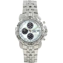 Krug Baumen 241269DM-MOP Mens Sportsmaster Diamond White Watch