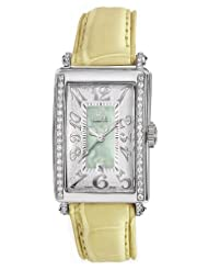 Gevril Women's 7246NE.9 Green Mother-of-Pearl Genuine Alligator Strap Watch