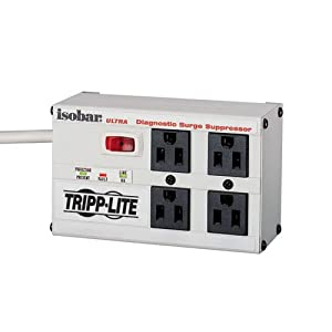 Tripp Lite ISOBAR4ULTRA Isobar Ultra 4-Outlet Surge Protector (3330 Joules, 6ft Cord)