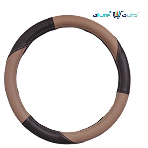 Allure Auto Beige And Brown Car Steering cover for Hyundai Santro Xing [2003-2008] XL eRLX – Euro III