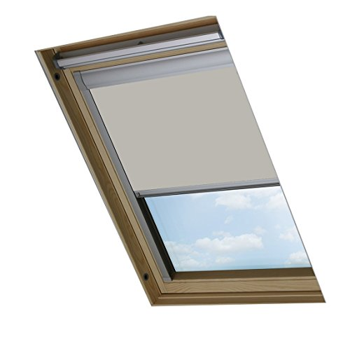 Bloc Skylight Rollo P08 Für Velux Dachfenster Blockout, Pale Stein