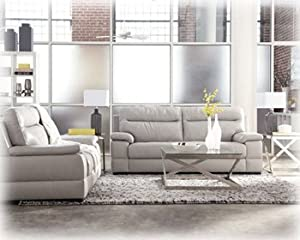 Amazon Gray Sofa and Loveseat by Ashley Furniture