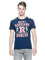 Benlee Camiseta Manga Corta Gymnasium (Azul Marino)