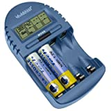 La Crosse Technologies LC Battery Charger Blue