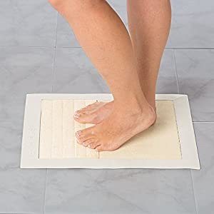The Solevation® natural surface scrubbing mat. All you need for deeply clean, scrubbed soles. Offers a convenient and secure footcare experience. Featured in Canadian House&Home and www.lifetimemoms.com.