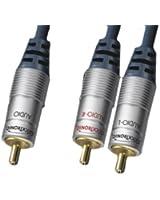 Clicktronic HC 410-500 Câble caisson basse 1 x fiche RCA vers 2 x fiches RCA 5 m (Import Allemagne)