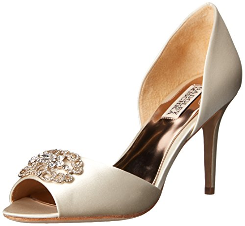 Badgley Mischka Women's Seneca D'Orsay Pump, Ivory, 8.5 M US