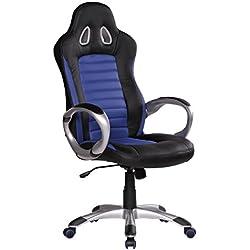 Amstyle Sports Racer Office Chair - sedia da ufficio poltrona direzionale pelle