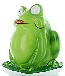 Circo Frog Wastebasket - Garbage Can - Can Also Be Used As a Cookie Jar - 11 with Sound
