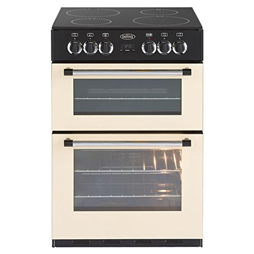 Belling Classic 60E - 60cm wide Electric Cooker with Double Ovens, Grill and Ceramic Hob in Cream