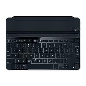 LOGICOOL ウルトラスリムマグネットクリップキーボードカバーfor iPad Airスペースグレー iK1060SG