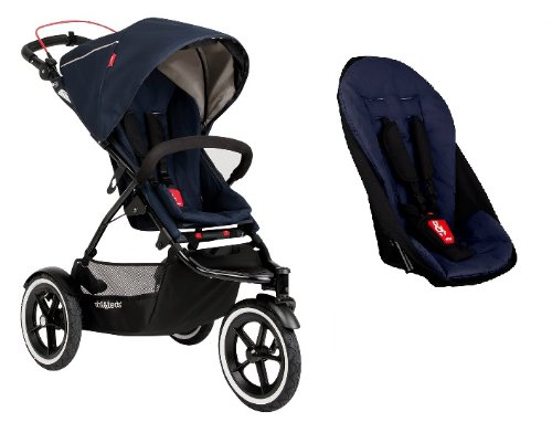 Phil and Teds 2014 Navigator Stroller With Doubles Kit (Midnight)