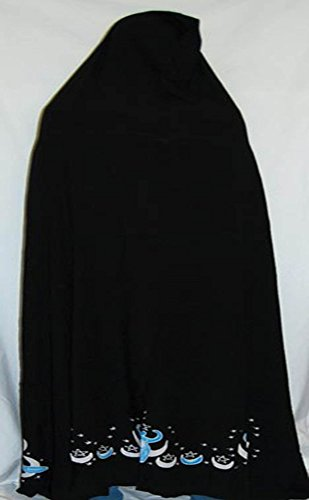 AzureGreen Moon Goddess Black Cape