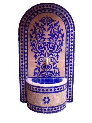 mediterraner Mosaikbrunnen Granada Blau, 120cm günstig bestellen