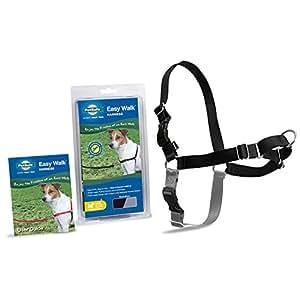 PetSafe Easy Walk Dog Harness, Petite/Small, Black/Silver