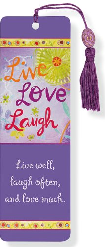 Beaded Bookmark Live, Love, Laugh
