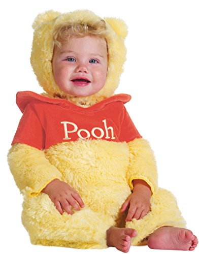 Disguise Baby's Disney Winnie The Pooh Prestige Costume, Yellow/Red, 6-12 Months