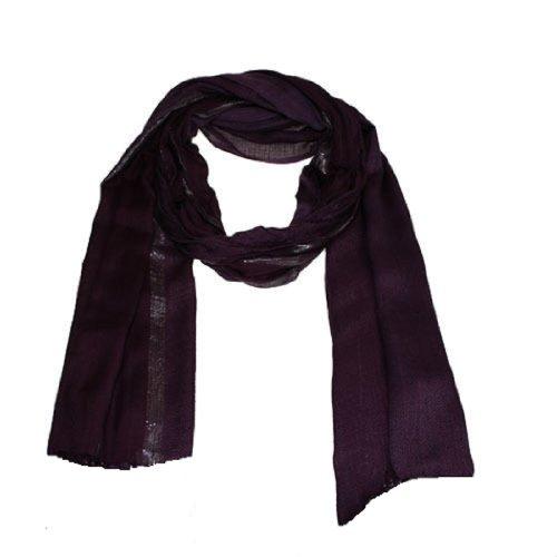 CK Collection Tinta Unita sciarpa hijab Maxi Sciarpa Sarong grande oversize Tinta Unita viscosa Plum Large