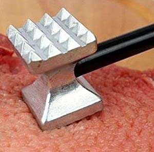 Etude House 18cm Heavy Duty Titanium Meat Tenderizer Pounder. Metal Steak Beef Hammer for... by Etude House