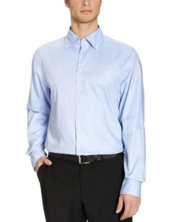 Jacques Britt Herren Businesshemd Regular Fit 20.960310 Boston 106 Washer, Gr. 38 (S), Blau (11 - Uni blau)