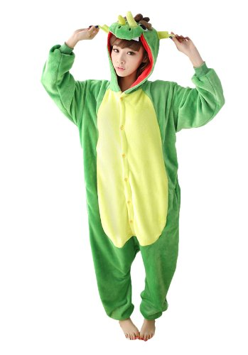 Green China Dragon Kigurumi Costume