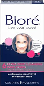 Biore Ultra Deep Cleansing Pore Strips, 6 Count