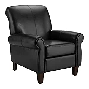 Amazon Com Dorel Living Elegant Faux Leather Club Chair