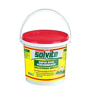 Solvite Super High Performance Ready Mixed Wallcoverings Adhesive for Heavyweight and Textile Wallpapers (Hangs 3 Rolls) from Henkel