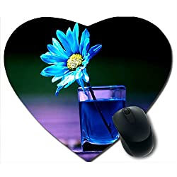 Awwsme Flower In The Glass Heart Mousepad