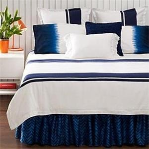 Ralph Lauren Twin Comforter Duvet Indigo Modern Stripe Cover