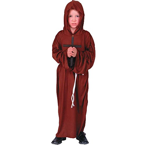 Child's Monk Robe Halloween Costume (Size:Small 4-6)