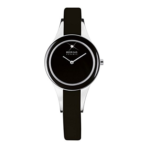 Bering Time Ladies Watch XS Analogue Quartz Leather 33125-442 Ceramic