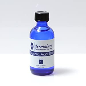 Glycolic Acid Peel 10% 1oz. 30ml (Level 1 pH 1.8) made by Dermalure