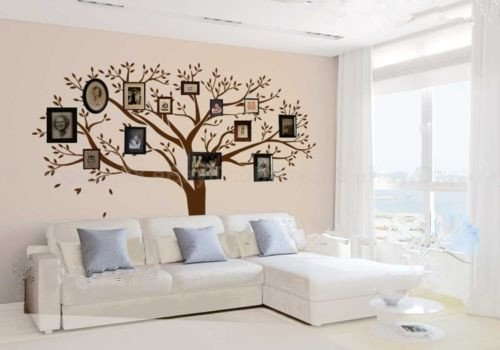Luckkyy decorazione adesiva da parete in vinile for Carta da parete adesiva