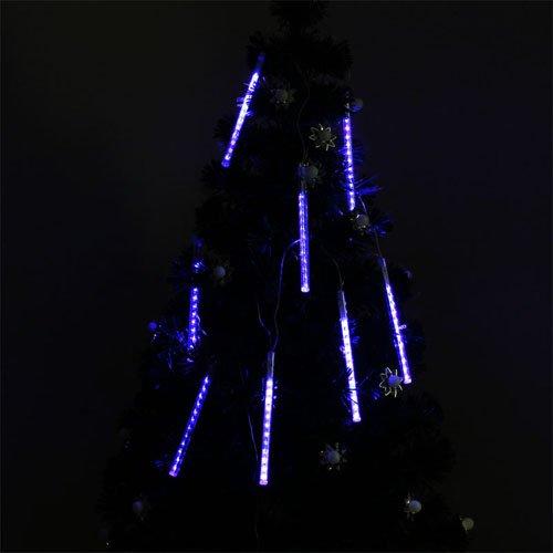 Blue 20Cm 96 Leds Shower Meteor Rain Light Tube For Christmas Xmas Decoration 4W 110V Waterproof By Bestumart